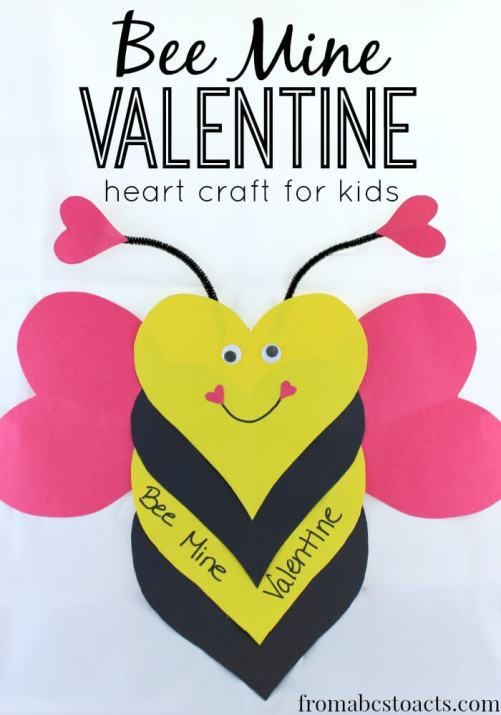 Bee-Mine-Valentine-Valentines-Day-crafts-for-kids